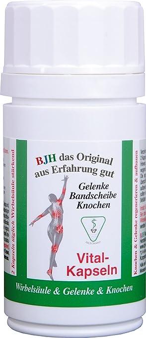 BJH Vital-Kapseln - 60 Stck - Gelenke,Bandscheibe,Knochen,Muskel-und Knorpelfunktionen, Sehnen- und Kollagenbildung normal fördernd und unterstutzend