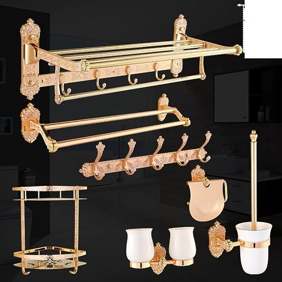 stile europeo asciugamani/ Golden portasciugamani/Salviette/Bagno asciugamano Bar/ hardware-R