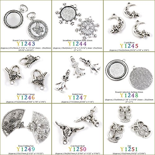 1 PCS Antique Silver Tone Jewelry Making Charms Findings Jewellery Charme Supply Supplies Lots Bulk Wholesale Y1249 Rose Folding Fan (Folding Fan Making Supplies compare prices)