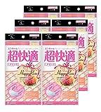 (日本製 PM2.5対応)超快適マスク アロマ ハッピーローズ シルク配合 小さめサイズ 3枚入×6個セット(unicharm)