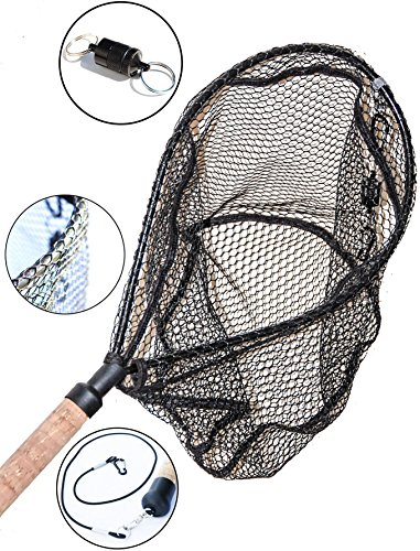 ActionSports Fishing Net - 4in1- Rubber Coated Netting - Magnetic Quick Release - Cork Handle - Safety Lanyard - Trout Fishing Net - Kayak Fishing Net - Fly Fishing Nets - Lifetime Guarantee (Trout Fishing Net compare prices)