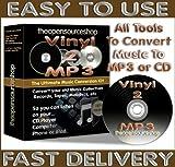 Vinyl 2 MP3 Essentials Audio Recording & DIY Conversion Kit - Copy, Duplicate, Convert, Transfer Vinyl LPs & Records, to your PC or Mac, MP3 & CD. For Windows 7 , Vista & XP & Macs. (3m)