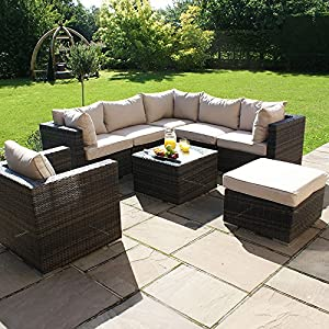 Maze rattan outdoor garden furniture london brown rattan for Outdoor furniture london