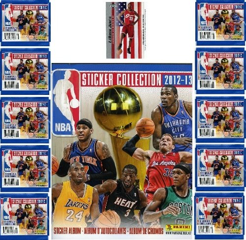 2012/13 Panini Nba Basketball Stickers Collectors Special Deal. Includes Ten Packs(70 Stickers) And Complete 72 Page Nba Sticker Album