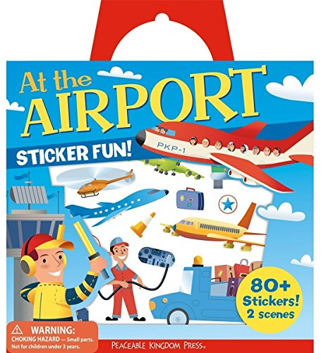 Peaceable Kingdom Sticker Fun! At the Airport Reusable Sticker Tote