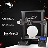 Creality Upgraded Ender-3 3D Printer with Tempered Glass 5PCS Nozzle and Hot Bed Build Surface 235x235mm Gift