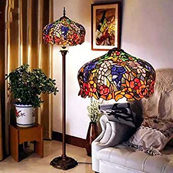 TOYM UK European Senior Stained Glass Tiffany Lamps Cafe Retro Living Room F