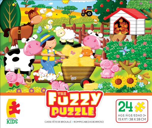 Ceaco The Fuzzy Puzzle On The Farm Jigsaw Puzzle