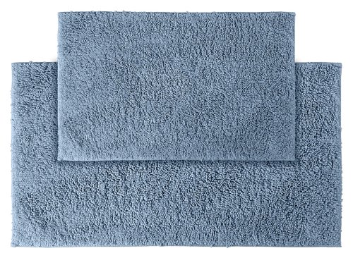 Garland Rug 2-Piece Queen Cotton Washable Rug Set, Sky Blue front-300144