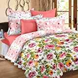 Story@Home Floral Print Premium Cotton Satin Soft And Light Weight Luxury Printed Reversible Single Size Comforter Microfibre filler, Pink