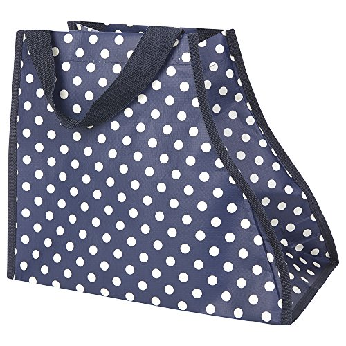 JoJo Maman Bebe Boot Bag, Navy Polka Dot