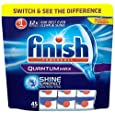 Finish Quantum Dishwasher Tablets - Regular, Pack of 1 (Total 45 Tablets )