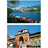 DollsofIndia Nainital Lake & Badrinath Temple (2 Postcards) 6 X 4 Inches
