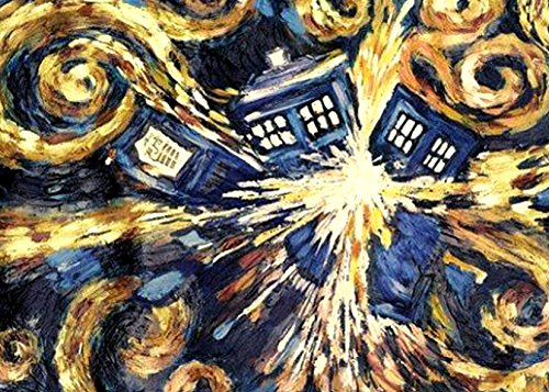 Doctor Who Van Gogh Exploding Tardis Funny Refrigerator Magnets Gift Decorative Kitchen Home Locker #DW01 (Tardis Fridge Cover compare prices)