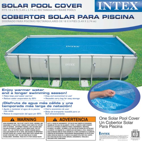Intex solar cover for 18ft x 9ft rectangular frame pools for Garden pool with cover