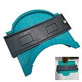 Contour Gauge Duplicator 5 Inch Plastic Profile Copy Gauge Contour Gauge Duplicator Standard Wood Marking Tool Tiling Laminate Tiles General Tools (Color: Green)