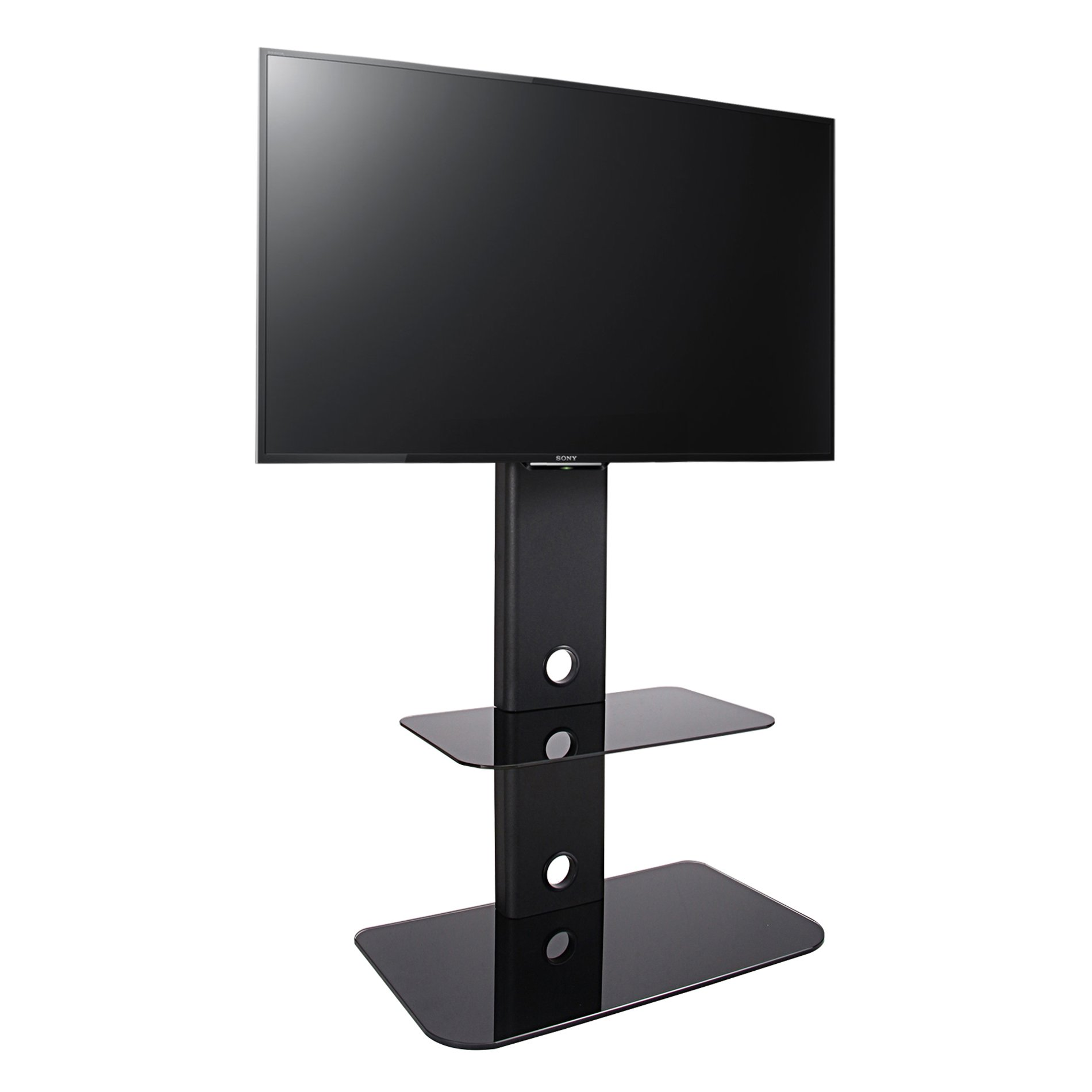 Fitueyes Floor Tv Stand With Mount Swivel For 32 60 Inches