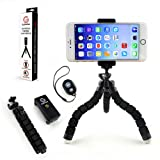 GoStellar Universal Flexible Mini Tripod, Lightweight, Ball Head for Cameras and Smartphone Devices, Mount Adapter, Bluetooth Remote Shutter (Wrist St