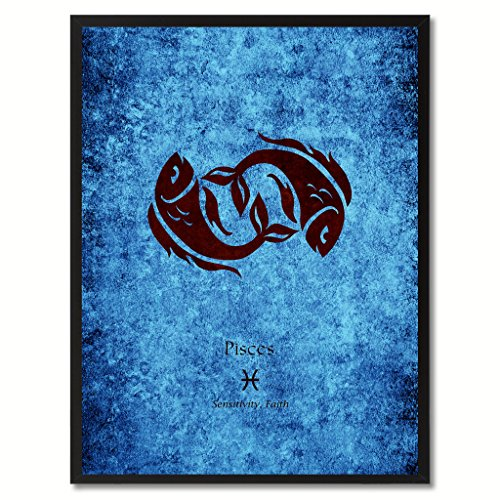 Pisces-Horoscope-Astrology-Canvas-Print-Picture-Frame-Home-Decor-Wall-Art-Gift