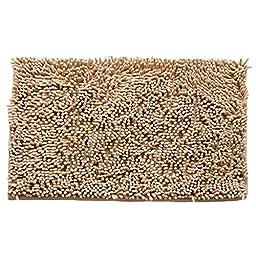 LOHOME (TM) High-grade Chenille Custom Floor Mats Washable Soft Shaggy Door Mat Absorbent Non-slip Mats Bathroom Shower Rugs Carpet (Light Tan)
