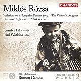 Rózsa: Orchesterwerke, Vol.2