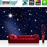 Vlies Fototapete PREMIUM PLUS 400x280cm A MILLION STARS by liwwing (R) Vliestapete Tapete Tapeten Fototapeten Wandbild Bild Foto Sternenhimmel Stars Sterne Leuchtsterne Nachthimmel