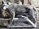Steinfigur Nr.437 Der Wolf massiv schwer XXL ca. 60 cm
