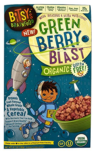 Bitsy's Brain Food Organic Gluten Free Cereal Green Berry Blast -- 6.7 oz (Bitsy Brain Food compare prices)