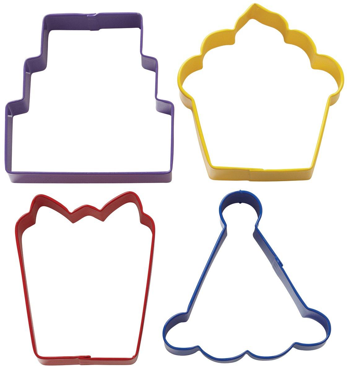 Wilton 2308-0909 - Set de cortadores para galletas, 4 piezas, diseño de fiesta   Comentarios de clientes y más información