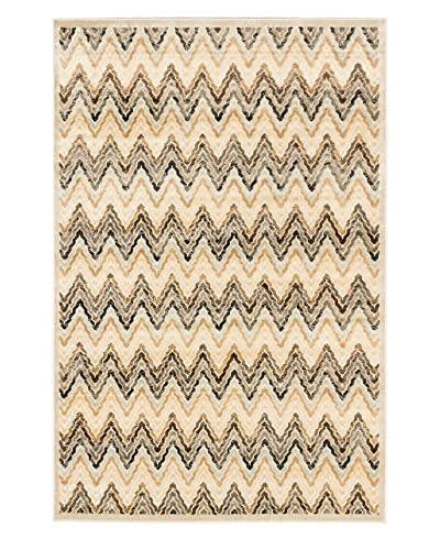 Silko Legacy Zigzag Rug  [Ivory/Light Brown]