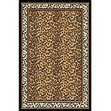"""Home Dynamix Zone Ebony Leopard Rug 3'7"""" x 5'3"""""""