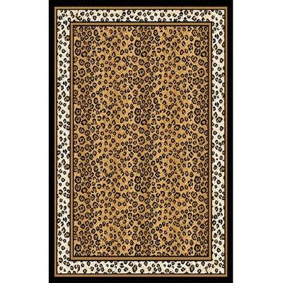 Home Dynamix Zone Ebony Leopard Rug 3'7