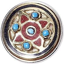 Noosa Chunk Morning Star gold/red/blue brass/powderstone