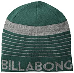 Billabong Men's Grange Reversible Beanie, Emerald, One Size