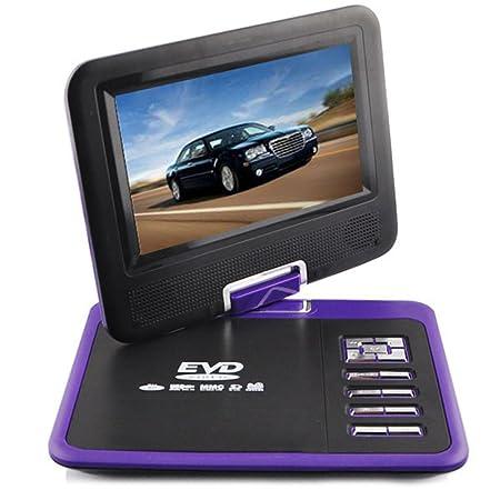 """iBaste HD Lecteur DVD portable multimédia-7,8"""" écran TFT haute définition numérique Rotatif Port USB (violet)"""