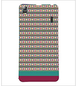PrintDhaba Tribal pattern D-1887 Back Case Cover for LENOVO A7000 TURBO (Multi-Coloured)