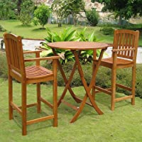 International Caravan Royal Tahiti Terrassa Bar Height Bistro Set