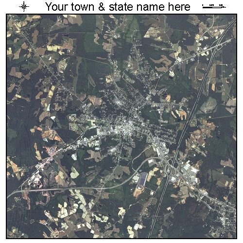 Aerial Photography Map of South Hill, Virginia