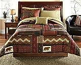 Southwest Cabin Bear Queen Comforter Set (8 Piece Bed In A Bag)