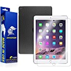 ArmorSuit MilitaryShield - Apple iPad Air 2 Wifi Screen Protector + Black Carbon Fiber Full Body Skin Protector / Front Anti-Bubble Ultra HD - Extreme Clarity & Touch Responsive Shield with Lifetime Free Replacements