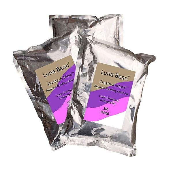 Luna Bean Create-A-Mold Craft Alginate Molding Powder for Life Casting (3 lbs) (Tamaño: 3 lbs)