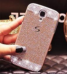 Samsung Galaxy S5 Case-Aurora Samsung S5 Luxury Bling Diamond with Crystal Rhinestone Handmade Hard PC Case Cover for Samsung Galaxy S5(Gold)