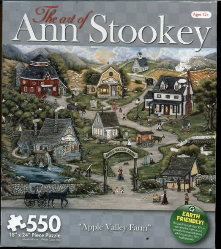 The Art of Ann Stookey 550 Piece Puzzle - Apple Valley Farm