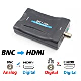 BNC to HDMI Video Converter - Female BNC HDMI Connector Audio Composite Adapter Component Box for HD TV Monitor Security Camera CCTV DVRs w/720 1080P Output HDCP Deep Color(BNC to HDMI USB Power) (Color: BNC to HDMI - USB Power)