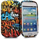 Accessory Master La Conception Fleurs Coque en silicone gel pour Samsung Galaxy S3 Mini i8190