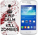Samsung Galaxy Ace 3 (S7270 / S7272 / S7275) Hard Plastic (PC) Case - Keep Calm and Kill Zombies Red/White Cover