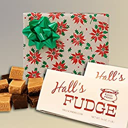 Christmas Poinsettia - Assorted Fudge Gift Box - Hall\'s Candies