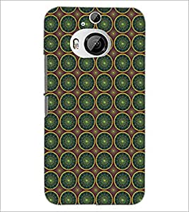 PrintDhaba Pattern D-5357 Back Case Cover for HTC ONE M9 PLUS (Multi-Coloured)