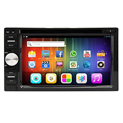 "Rungrace Autoradio avec Lecteur DVD Bluetooth/USB Android 4.2 6.2"" Ecran Tactile avec WIFI, GPS, RDS, DVB-T (RL-263AGDR"