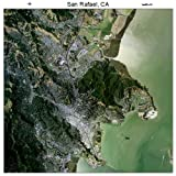 Large Aerial Photography Map of San Rafael, California 2012 CA sale off 2015
